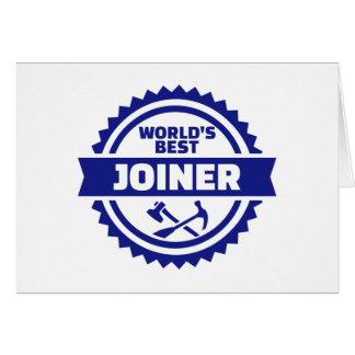 Cartão O melhor marceneiro do mundo