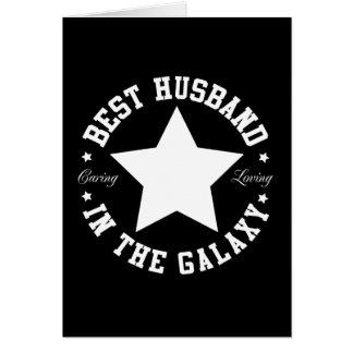 Cartão O melhor marido na galáxia