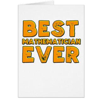 Cartão O melhor matemático nunca