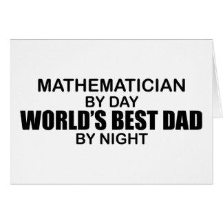 Cartão O melhor pai do mundo - matemático