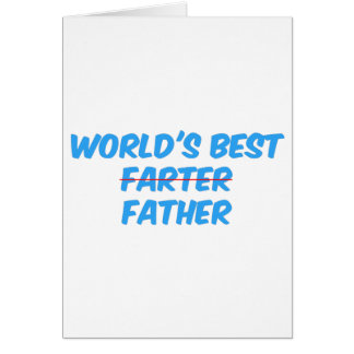 Cartão O melhor pai dos mundos