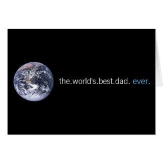 Cartão O melhor pai dos mundos nunca
