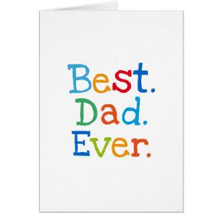 Cartão O melhor pai nunca