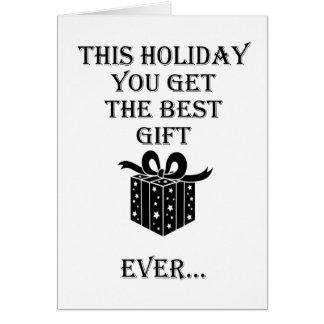 Cartão O melhor presente de época natalícia