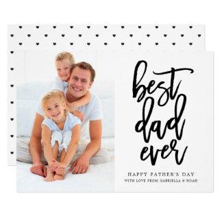 Cartão O melhor preto escrito à mão do pai sempre | no