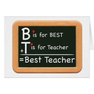 Cartão o melhor professor