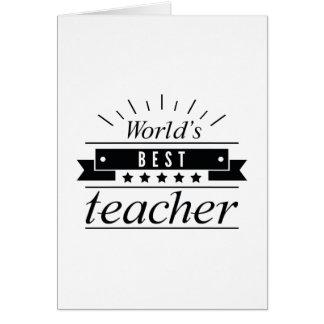 Cartão O melhor professor do mundo