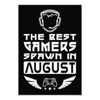 Cartão O melhor Spawn dos Gamers em agosto