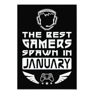 Cartão O melhor Spawn dos Gamers em janeiro