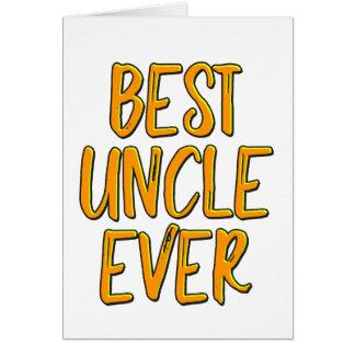 Cartão O melhor tio nunca