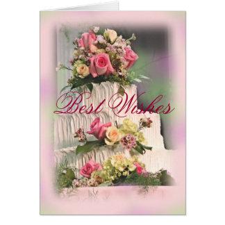 Cartão O melhor Wedding Desejo-personaliza