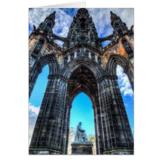 Cartão O memorial Edimburgo de Scott