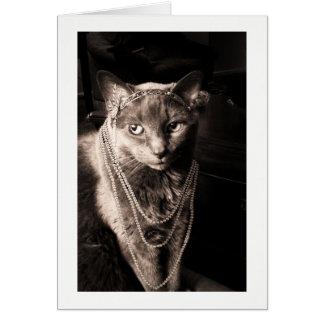 Cartão O Meow do gato