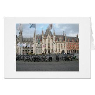 Cartão O mercado - Bruges