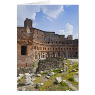 Cartão O mercado de Trajan (latino: Mercatus Traiani,