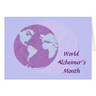 Cartão O mês de Alzheimer do mundo - setembro