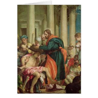 Cartão O milagre de St. Barnabas, c.1566