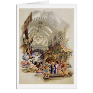 Cartão O Missr Tcharsky, ou mercado egípcio, em Constan