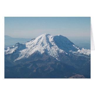 Cartão O Monte Rainier com neve do ar