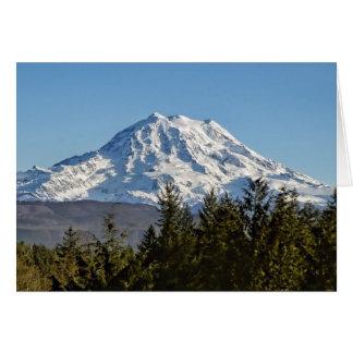 Cartão O Monte Rainier majestoso