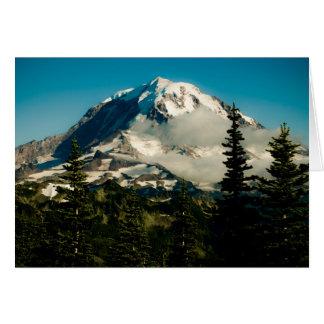 Cartão O Monte Rainier no pico de Tolmie