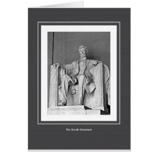 Cartão O monumento de Lincoln