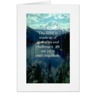 Cartão O mundo do Incentivo- é compo dos obstáculos