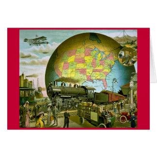 Cartão O mundo do transporte 1910