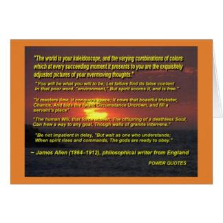 """Cartão """"O mundo é seu caleidoscópio…"""