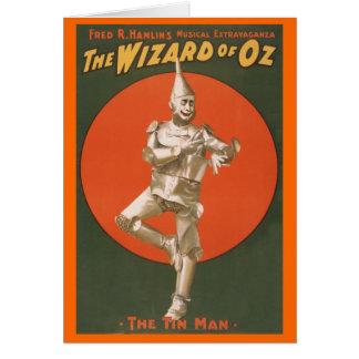 Cartão O Musical de mágico de Oz - homem da lata