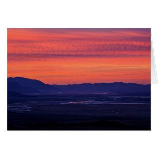Cartão O nascer do sol do diabo
