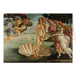 Cartão O nascimento de Venus - Sandro Botticelli
