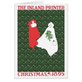 Cartão o Natal 1895 de Bradley
