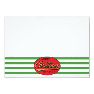 """Cartão O Natal 7"""" x 5"""" o obrigado retro You/2 tomou"""
