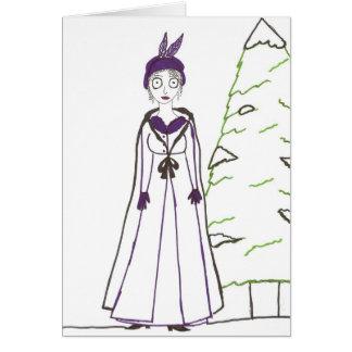 Cartão O Natal assustador de Jane Austen