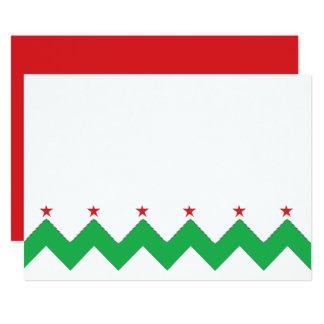 """Cartão O Natal Chevron 7"""" x 5"""" o obrigado You/2 tomou"""