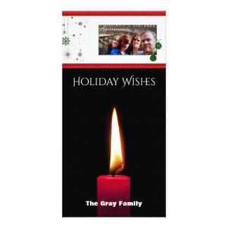 Cartão O Natal deseja o feriado da foto de |
