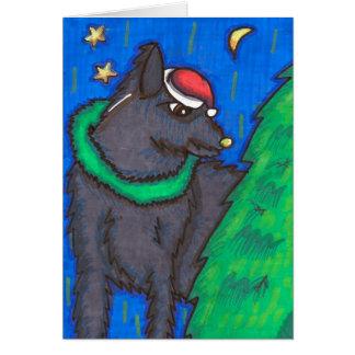 Cartão O Natal do dominó
