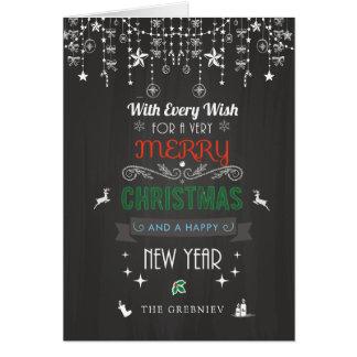 Cartão O Natal do quadro rústico aquece a tipografia do