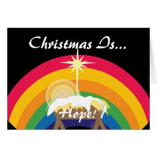 Cartão O Natal é esperança! - Personalize