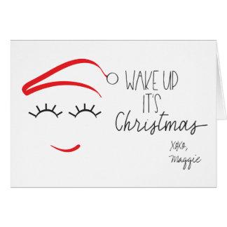 """Cartão O Natal engraçado, """"acorda-o é chicotes do Natal"""""""