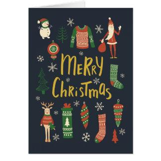 Cartão O Natal está aqui