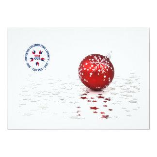 Cartão O Natal patriótico convida/cartão - América 250th