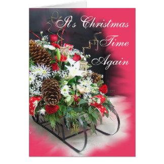 Cartão O Natal Trenó-personaliza