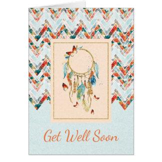 Cartão O nativo americano Dreamcatcher obtem bem logo