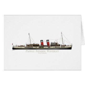Cartão O navio a vapor de pá Waverley por Tony Fernandes