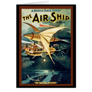 Cartão O navio do ar