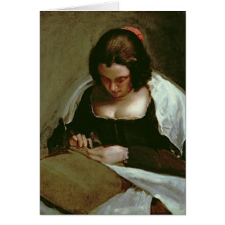 Cartão O Needlewoman, c.1640-50