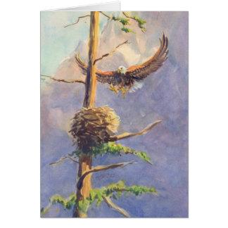 Cartão O NINHO de EAGLE por SHARON SHARPE