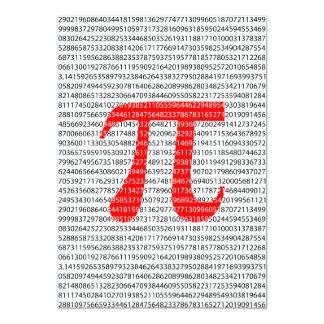 Cartão O número vermelho pi é um símbolo da constante